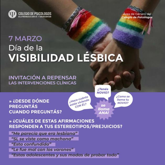 Día de la visibilidad lésbica flyer