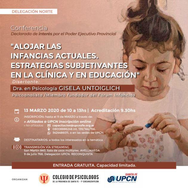 conferencia alojar las infancias DELAGACION NORTE