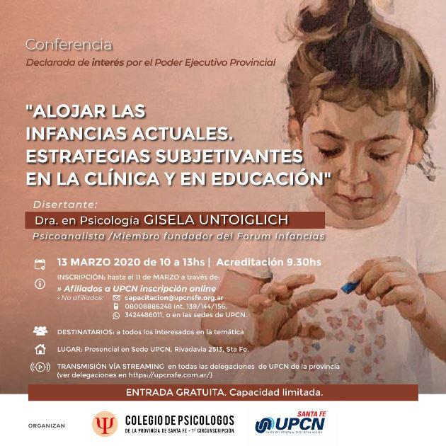conferencia alojar las infancias