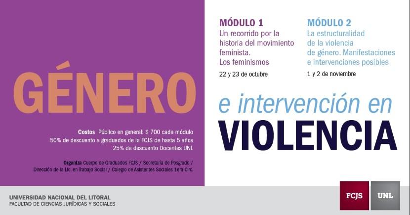 genero e intervencion en violencia