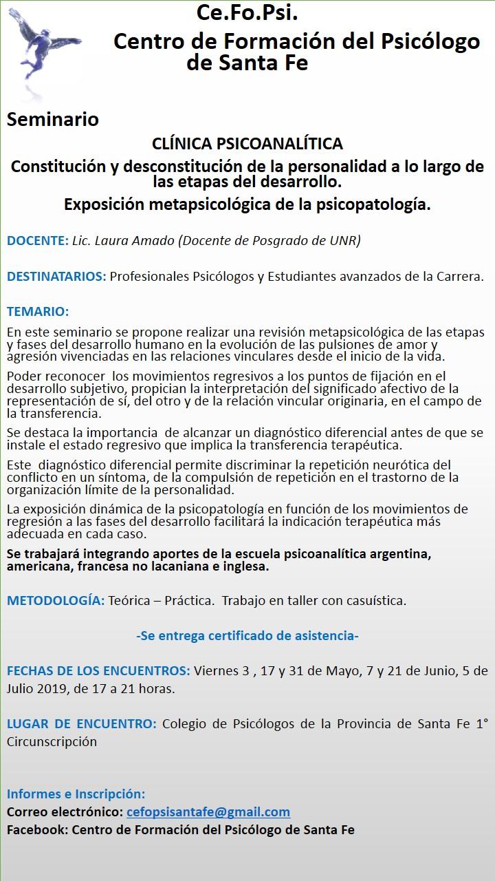 seminario clinica psicoanalitica