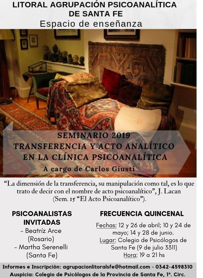 seminario transferencia y acto analitico