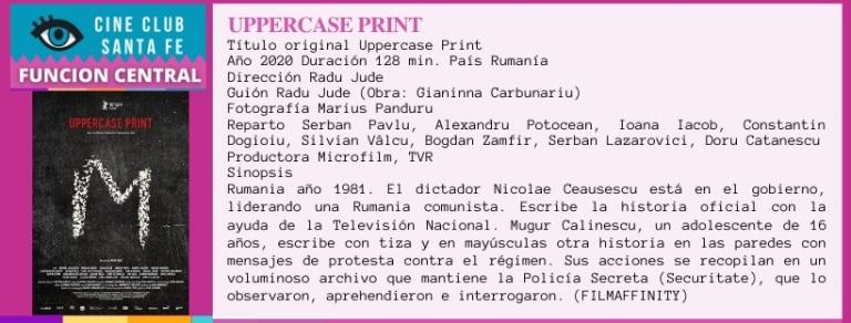 uppercase print