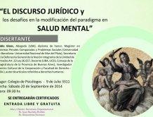 Jornada sobre Salud Mental