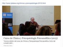 CLÍNICA Y PSICOPATOLOGÍA PSICOANALÍTICA 2015